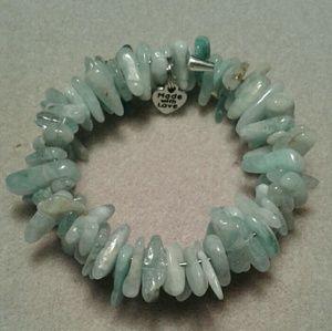 Jewelry - An aquamarine memory wire bracelet